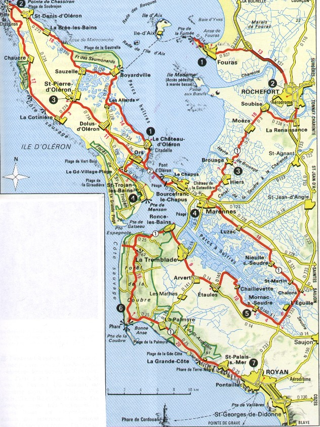 Carte La Rochelle Royan.Urlaub In France Cartes Geographiques