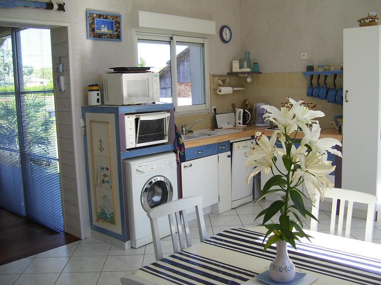 Wohn -Esszimmer mit Küche