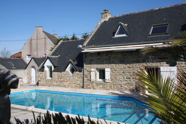 Ferienhaus mit Pool - Porspoder