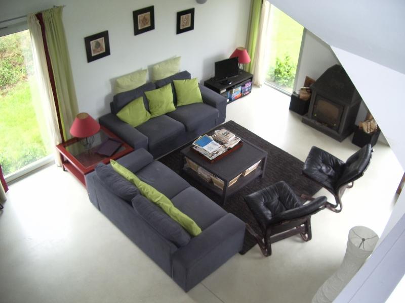 Wohnzimmer-Ferienhaus in der Bretagne