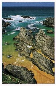 Ferienobjekte auf dem Strand von der Bretagne